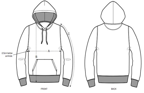 hoodie-groesse